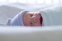 Newborn sleeping Royalty Free Stock Photos