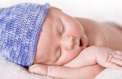 Newborn sleeping Stock Photography