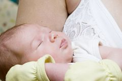 Newborn sleeping Royalty Free Stock Images