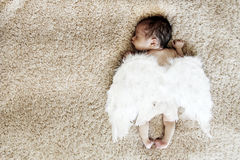 Newborn sleeping baby Royalty Free Stock Image