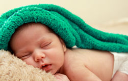 Newborn sleeping baby Stock Photo
