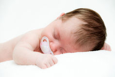Newborn sleeping child Royalty Free Stock Image