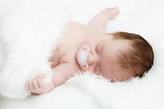 Newborn sleeping child Royalty Free Stock Photo
