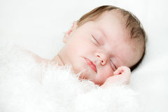 Newborn sleeping child Royalty Free Stock Images