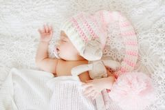 Newborn is sleeping Royalty Free Stock Photography