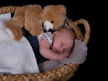 Newborn sleeping Royalty Free Stock Photo