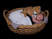 Newborn sleeping Stock Image