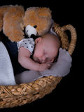 Newborn sleeping Stock Photos