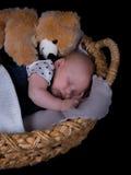 Newborn sleeping Stock Photos