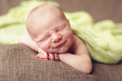 Newborn Smile Stock Photography