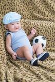 Playful newborn Stock Photo