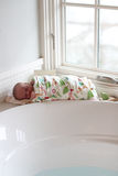 Newborn swaddled after bath Stock Images