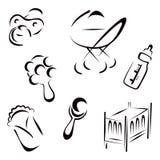 Newborn symbols Stock Photography