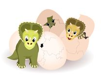 Newborn triceratops Stock Image
