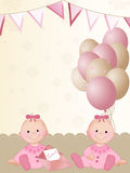 Newborn twin girls Royalty Free Stock Image