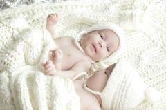 Newborn twins babies Stock Photo
