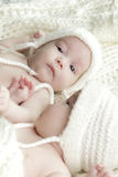 Newborn twins babies Royalty Free Stock Photography