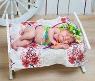 Newborn Ukrainian  girl Stock Photo