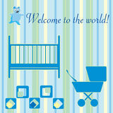 Newborn welcome card Stock Photos