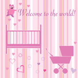 Newborn welcome card Royalty Free Stock Image