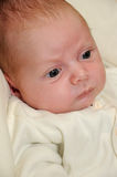 Newborn in white jumper Royalty Free Stock Image