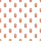 Newborn wrapped pattern seamless. Newborn wrapped pattern in cartoon style. Seamless pattern vector illustration Royalty Free Stock Image