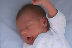 Newborn yawn Royalty Free Stock Photo