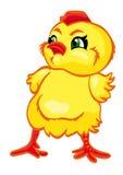 Newborn yellow chick. Cartoon character. Newborn yellow chick, isolated in white. Vector illustration Royalty Free Illustration
