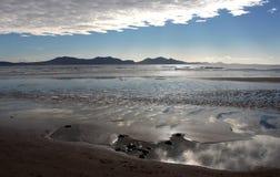 Newborough海滩, Anglesey,威尔士 免版税库存照片