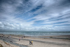 Newborough海滩Angelsey北部威尔士 免版税库存照片