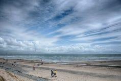 Newborough strand Angelsey norr Wales Royaltyfria Foton