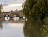 Newbridge over River Thames ancient bridge Stock Photos