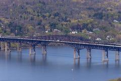 Newburgh-Leuchtfeuer-Brücke Stockbild