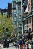 Newbury gata i Boston Arkivbild