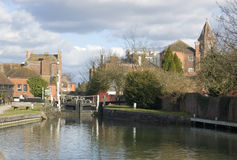 Newbury Lock, Berkshire Stock Image