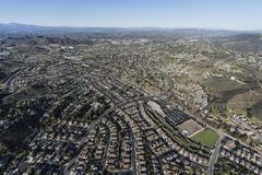 Newbury Park and Thousand Oaks California Aerial Royalty Free Stock Images