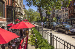 Newbury Street Royalty Free Stock Images