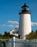 Newburyport schronienia latarnia morska (Śliwkowa wyspa) obrazy royalty free