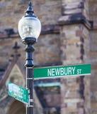 Newburystraat Royalty-vrije Stock Fotografie