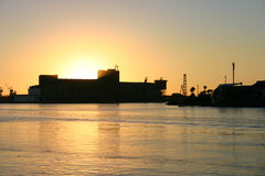 Newcaslte Harbour. Sunset over the beautiful Newcastle Harbour. Newcaslte, NSW, Australia Stock Photos