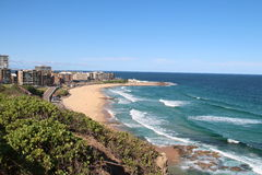 Newcastle Beach. Picture of bay with beach in Newcastle, Australia Royalty Free Stock Photography