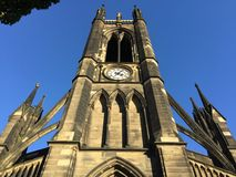 Newcastle cathedral against blue sky Royalty Free Stock Photo