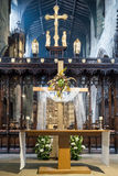 Newcastle Cathedral, Cathedral Church of St Nicholas Altar Rood Royalty Free Stock Photography