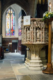Newcastle Cathedral, Cathedral Church of St Nicholas Pulpit Stock Image