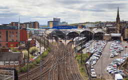 Newcastle Central Station Stock Photo