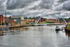 Newcastle em cima de Tyne HDR Foto de Stock