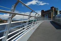 Newcastle em cima de Tyne, Reino Unido. Ponte do milênio Imagem de Stock