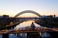 Newcastle en la salida del sol Fotos de archivo libres de regalías