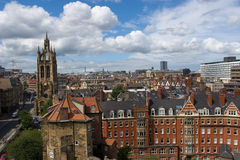 Newcastle, England. Overview of Newcastle, England Stock Images