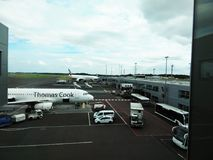 Newcastle England airport Royalty Free Stock Photo